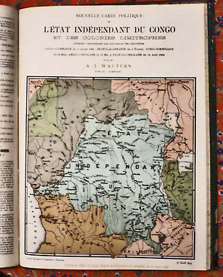 Rare 1894 periodical on The Congo with Colored Maps: Le Mouvement Geographique