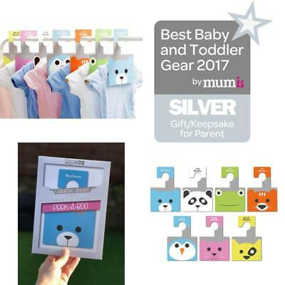 New Baby Wardrobe Dividers Peek a Boo Pack of 7 Hangers to Organise Clothes UK