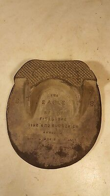 Antique Rubber Horseshoe The Eagle Firestone Tire Co Akron Ohio