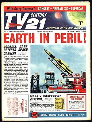 Tv Century 21 #10 Fireball Xl5 Stingray The Daleks- Lovely Fine Flat White Pages