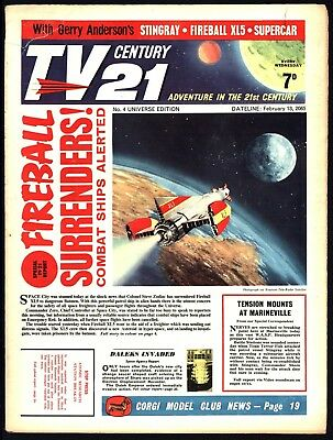Tv Century 21 #4 Stingray/fireball Xl5/the Daleks Very Nice Flat White Pages