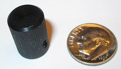 "Solid Aluminum Machined Knob  7/16""od X 5/8""h  Nos"