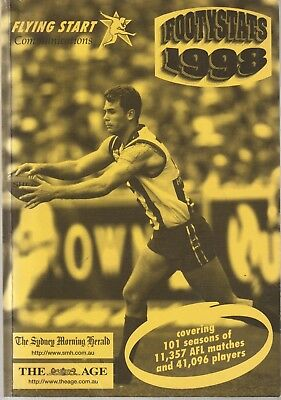 Footy Stats 1998. By Kevin Taylor.101 Seasons Of 11357 Matches,41,096 Players