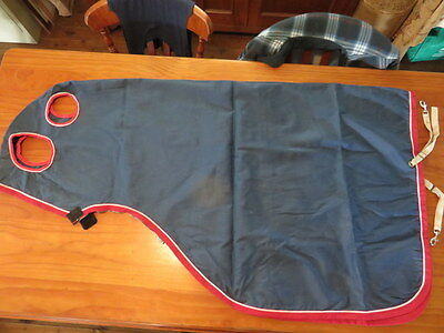 New Cotton Cob / Small Horse Hood Navy Red Binding  New