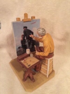 Norman Rockwell 1984 Outward Bound Commemorative Figurine by Rockwell Museum