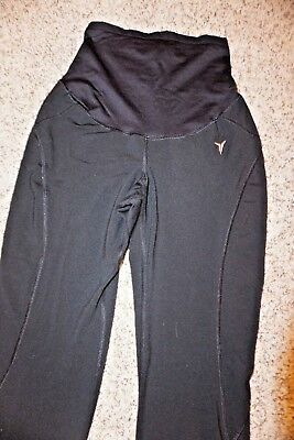 OLD NAVY Black Athletic Comfortable Stretch Belly Maternity Pants XS