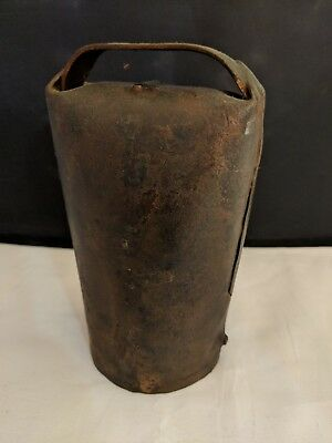 Vintage French Cowbell with Bone Ringer