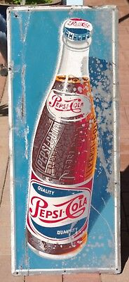 Genuine Vintage Pepsi Cola tin sign.       #SundayMarket