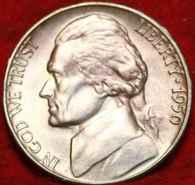 Uncirculated 1950-D Denver Mint Jefferson Nickel