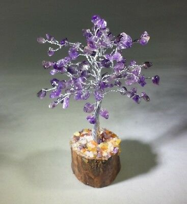 Natural Amethyst Gemstone Chip Tree With 100 Stones Crystal Tree Of Life