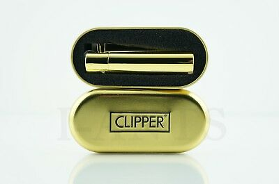 1x Full Size Refillable Adjustable Flame Metal Clipper Lighter With Gift Box!