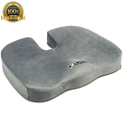 Aylio Coccyx Seat Cushion Back Support Tailbone Sciatica Pain Relief Office Chai