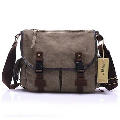Male Bags High Quality Cotton Canvas Solid Cover Zipper Casual Shoulder School