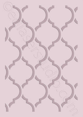 Moroccan Pattern Stencil Template Card making Paint Furniture Wall Crafts TE190