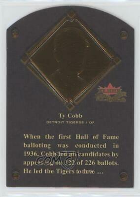 2002 Fleer Fall Classic Hall of Fame Plaques/1936 #4HF Ty Cobb Detroit Tigers