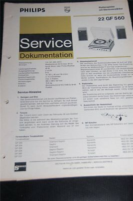 Service Manual Philips  Plattenspieler 22GF560