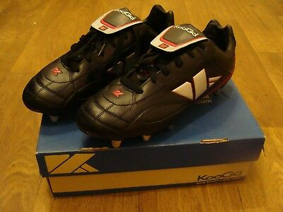 Kooga LCST Rugby Boot - Size UK 10 Adults (Worn Once) Black -Silver -Red
