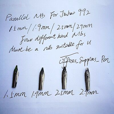 4Pcs Parallel italic 1.5/1.9/2.5/2.9MM Nibs For JInhao 992