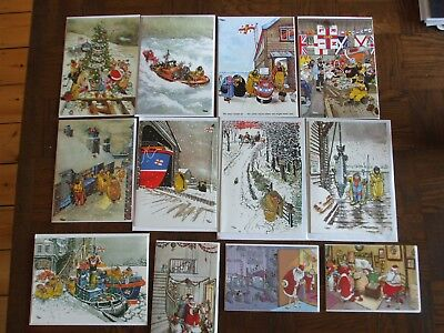 collection of 12 giles Christmas cards
