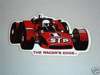 Stp racing sticker decal vintage indy 500 f1 car mario andretti