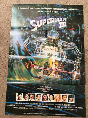 SUPERMAN 3 movie poster Christopher Reeve Richard Pryor 1983
