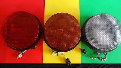 "12 GE LED Signal Traffic Lights / Red, Yellow, Green  12"" with gaskets and plugs"