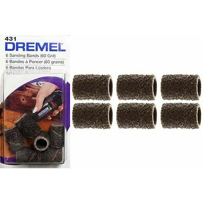 Dremel 431 6Pz Cylinders Abrasive Grain 60 Accessories Smoothing Minidrill 6,4m