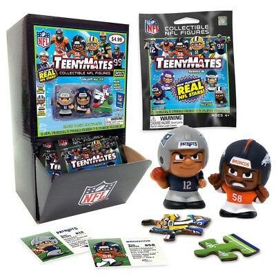 NFL Teenymates Series 6 Names & Numbers 32 New Unopened Packs In sealed Case Box