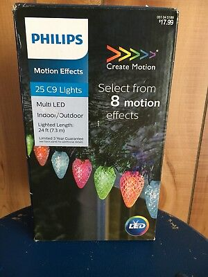 philips motion effects 25 c9 multi led indoor outdoor christmas lights new - Philips C9 Led Christmas Lights