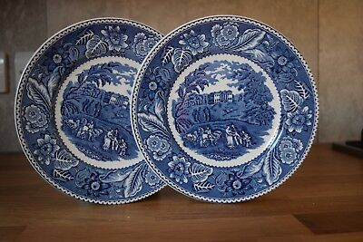 WOODLAND - A Pair Of Decorative Wood and Son Plates