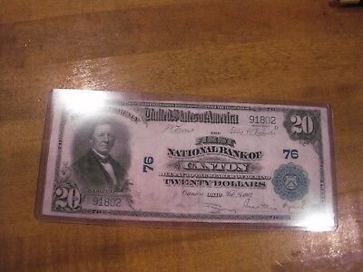 HGR 1902 $20 Canton, OH ((Stunning ARTWORK)) AWESOME GRADE, # 76