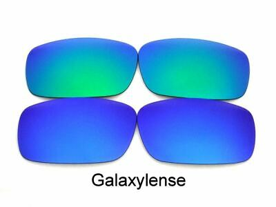 b07ee18bbf0 Galaxy Replacement Lenses For Oakley Chainlink Blue Green Polarized 2 Pair