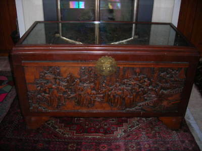 Top Notch Vintage/antique Hand Carved Chinese Chest Or Trunk 39X24X30 Must C!