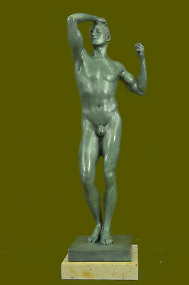 """Huge Sale """"The Age of Bronze"""" Marble Sculpture Figurine Detailed Statue"""