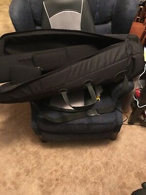 Gently used black large bore tenor or small bass trombone gig bag.