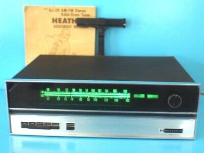 Vintage Heathkit AJ-29 AM/FM Solid State Tuner With Assembly Manual Dated 1970