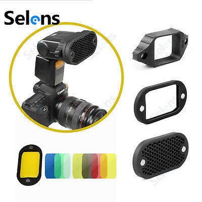 Selens High Quality Honeycomb Grid With 7 Color Gels Set For Speedlight Flashes