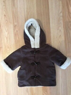 Gymboree sherpa & fleece baby jacket SZ 3 to 6 months