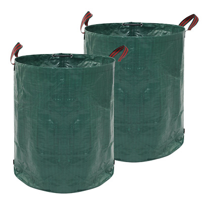 JNEGlo Garden Waste Bags - Includes 2 Large Heavy Duty, Strong Reusable Gardenin
