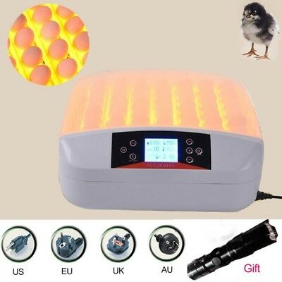 Egg Incubator Digital Turning Temperature Control Farm Hatchery Machine 56 Auto