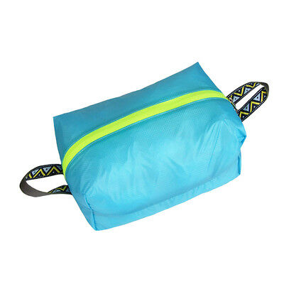 Travel Camping Laundry Shoes Storage Bag Pouch Sports Carry Case M Blue