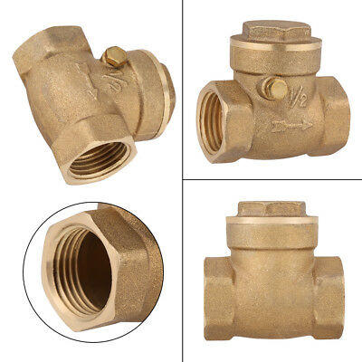 "DN15 1/2"" BSP Female Brass 232Psi Prevent Water Backflow Swing Check Valve New"