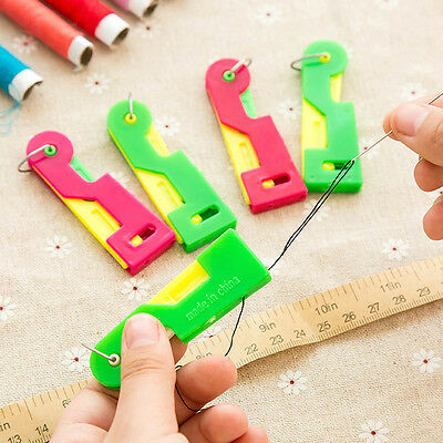 3Pcs Elderly Automatic Sewing Needle Threader Thread Guide Tool Hand Sewing Accs