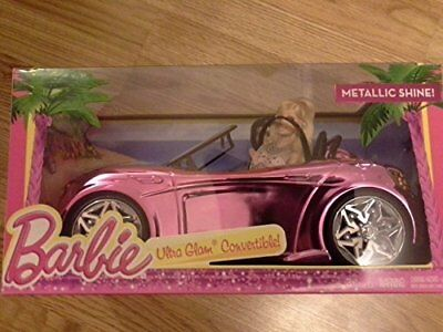 Barbie METALLIC SHINE Ultra Glam Convertible, Doll Vehicle Car Mattel Sealed