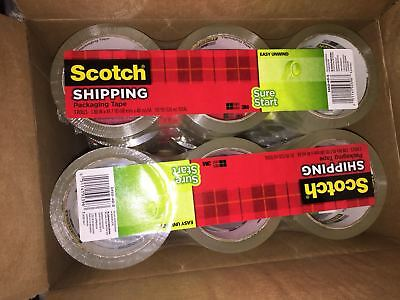 """3/Pack 3M Scotch Sure Start Packaging Packing Tape 1.88"""" x 43.7 yards Clear 3450"""