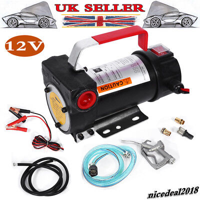 DC12V Electric Diesel Fluid Extractor Auto Oil Transfer Pump With Fuel Nozzle UK