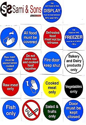 Commercial Plastic Signs for Kitchen Food Preparation of Restaurants/Cafe/Hotel