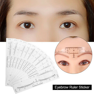 50pcs/Set Disposable Eyebrow Ruler Sticker Microblading Makeup Measuring Kit