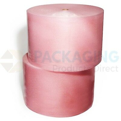 PINK ANTI STATIC SMALL BUBBLE WRAP  500mm / 750mm UK Made Rolls