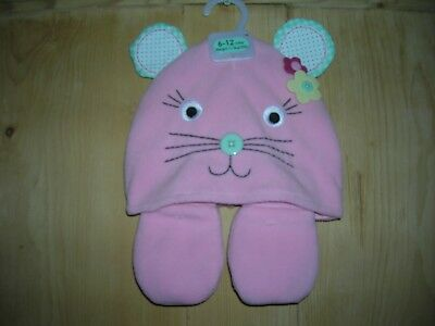 Hat+Mittens for Girl 6-12 months F&F